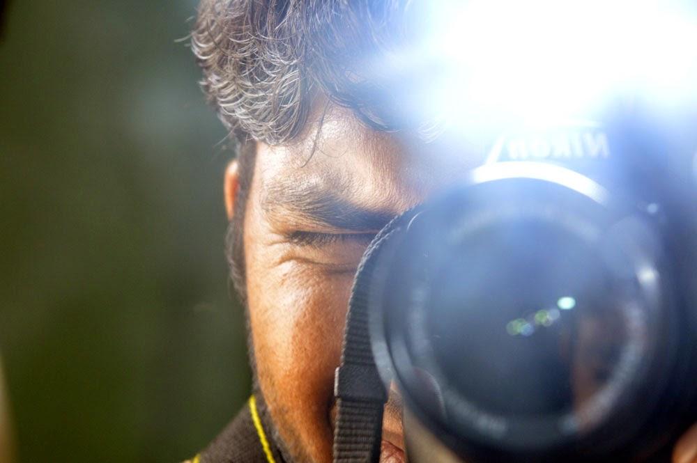Photographer shoot