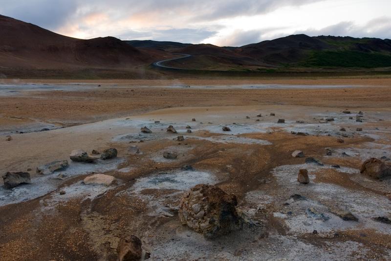 Iceland Namafjall sulfur fields mudpots fumarole