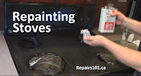 using paint thinner to repaint a black stove