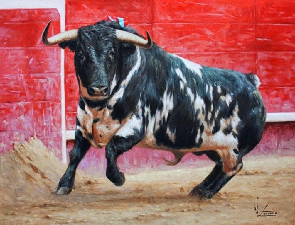 cuadros-de-toros-de-lidia-pintados-al-oleo