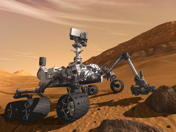 Curiosity analisando compostos em Marte