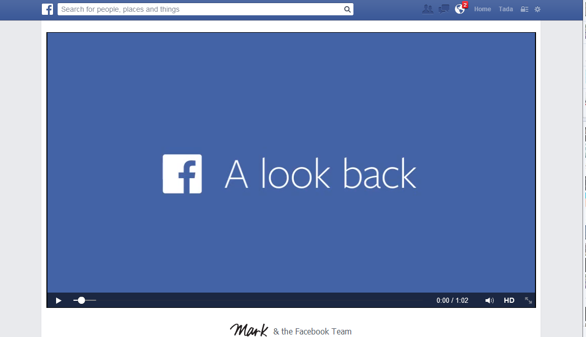 ارجع الى أول يوم أنشئت فيه حساب فيسبوك
