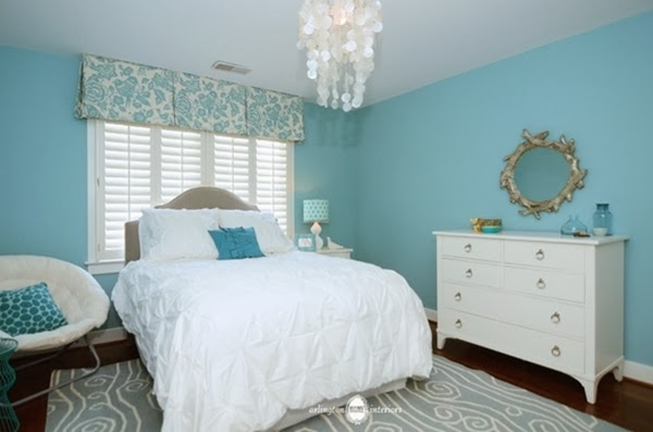 Bedroom glamor ideas blue sky bedroom glamor ideas for Aquamarine bedroom ideas