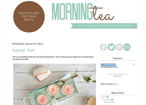 plantilla blog preciosa y molona prediseñada mi boda gratis