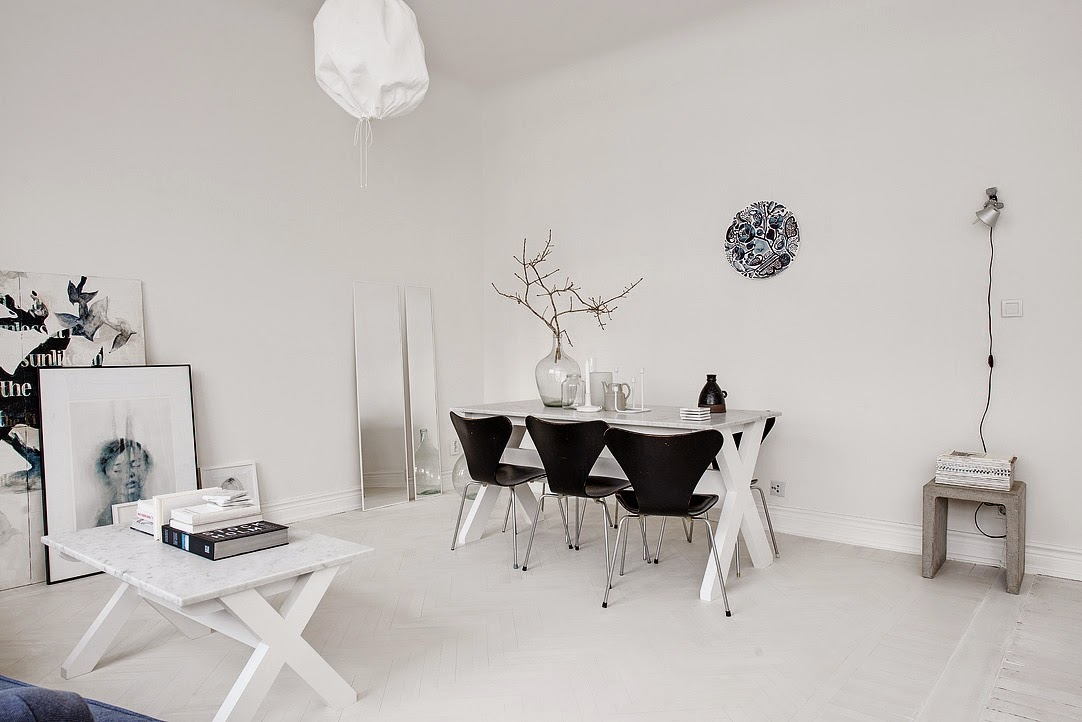 Scandinavian interior design, Scandinavian white living room, aloveforgrey blog