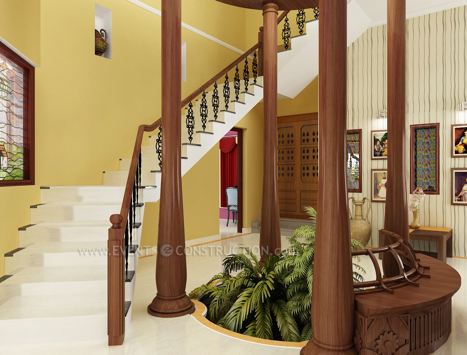 Staircase Design For Modern Kerala Home Living Room Interiors Pdf