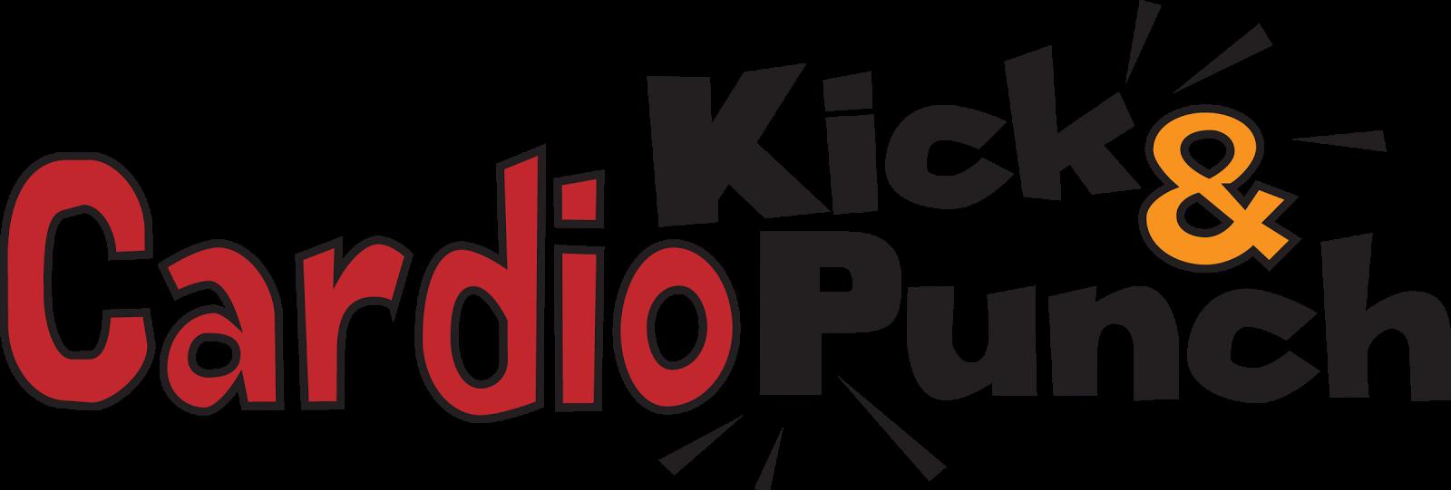 Cardio Kick and Punch fitness class logo by Sarah Pecorino for The Zoo Health Club NH