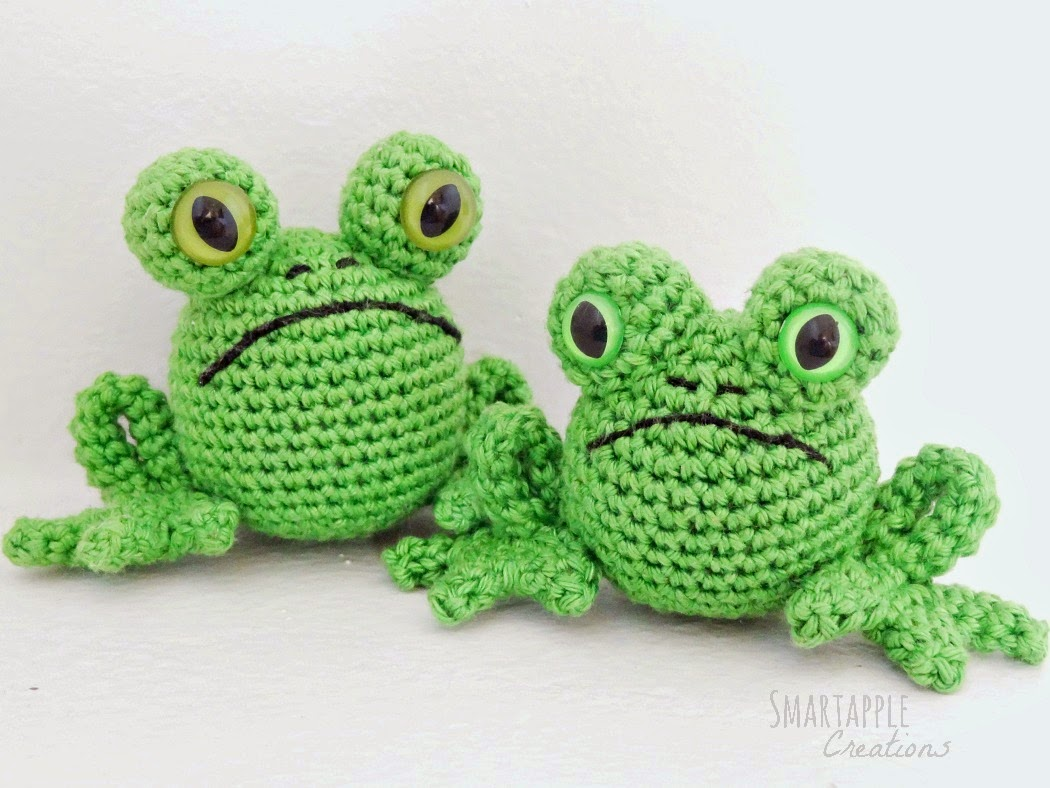 smartapple creations amigurumi and crochet free pattern fred the frog. Black Bedroom Furniture Sets. Home Design Ideas