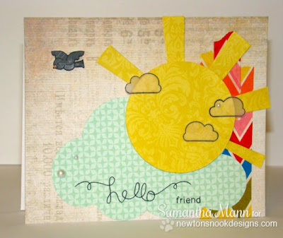 Hello friend card using Winged Wishes Stamp set