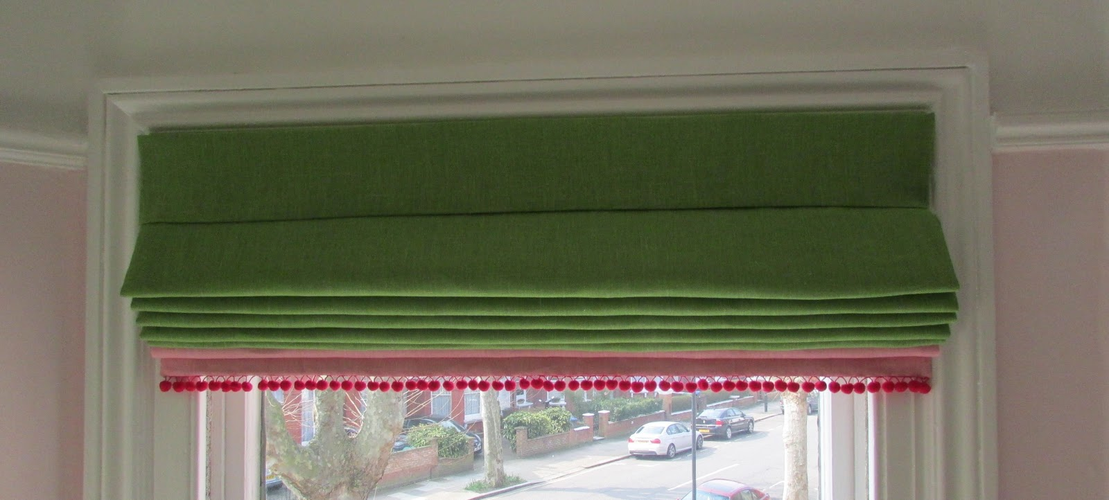 Gina Take A Bow Candy Colour Blocked Roman Blinds