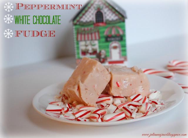 Peppermint White Chocolate Fudge Recipe