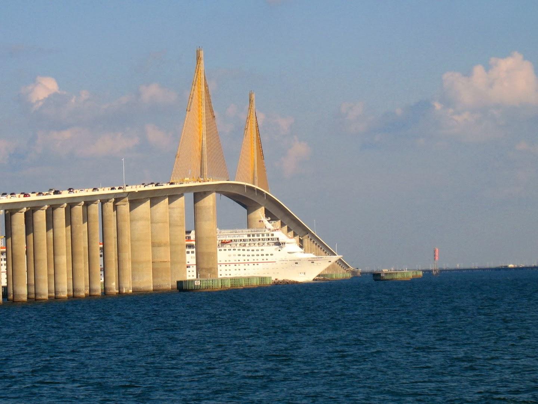 Cigar city reflections sunshine skyway for Skyway bridge fishing pier