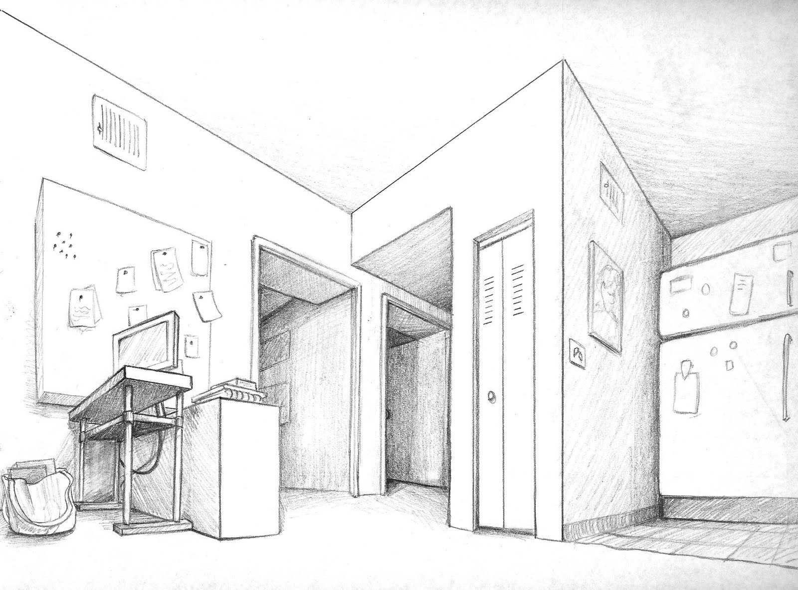 Cool One Point Perspective Drawings The gallery for -->...