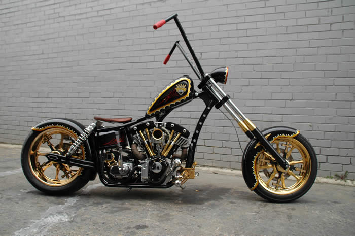 Old School Harley Choppers