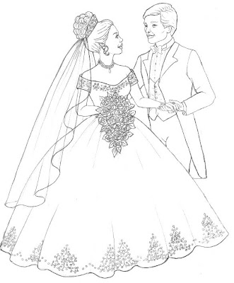 Princess and Prince Married Coloring