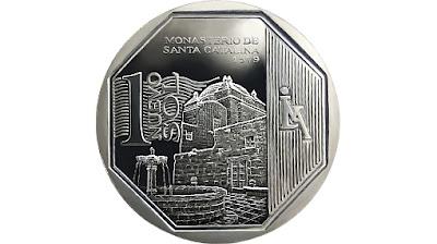 """Nueva moneda de 1 Nuevo Sol """"Monasterio de Santa Catalina"""""""