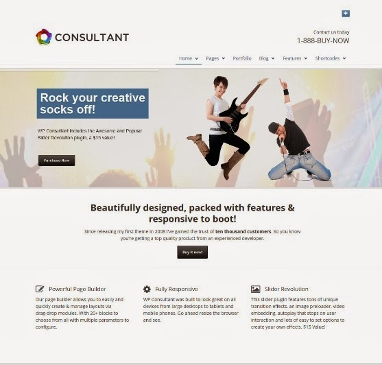 WP Consultant - Fully Responsive WordPress Theme
