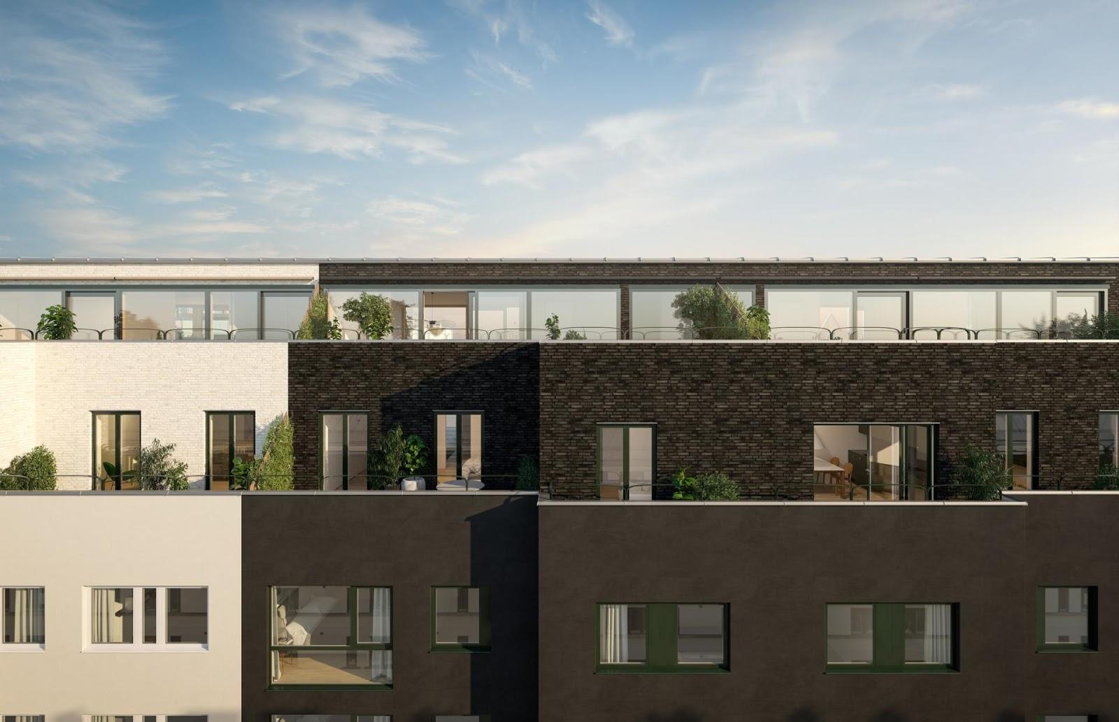 Edificio residenziale con appartamenti ed attici a stoccolma by