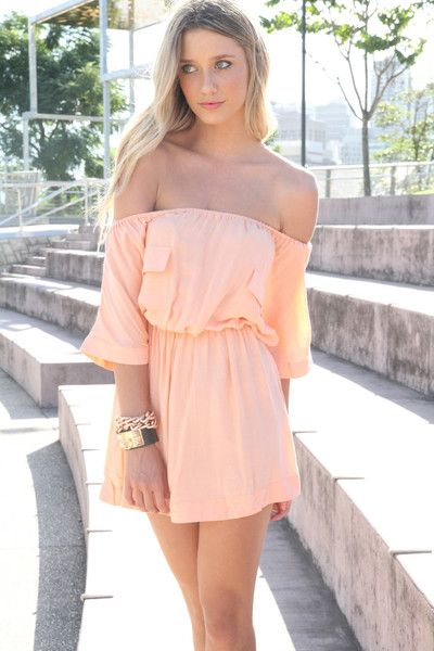 Love everything #off-shoulder #peach