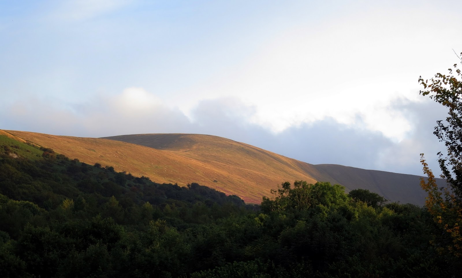 Some of the varying colours shapes of the Brecon Beacon Hills