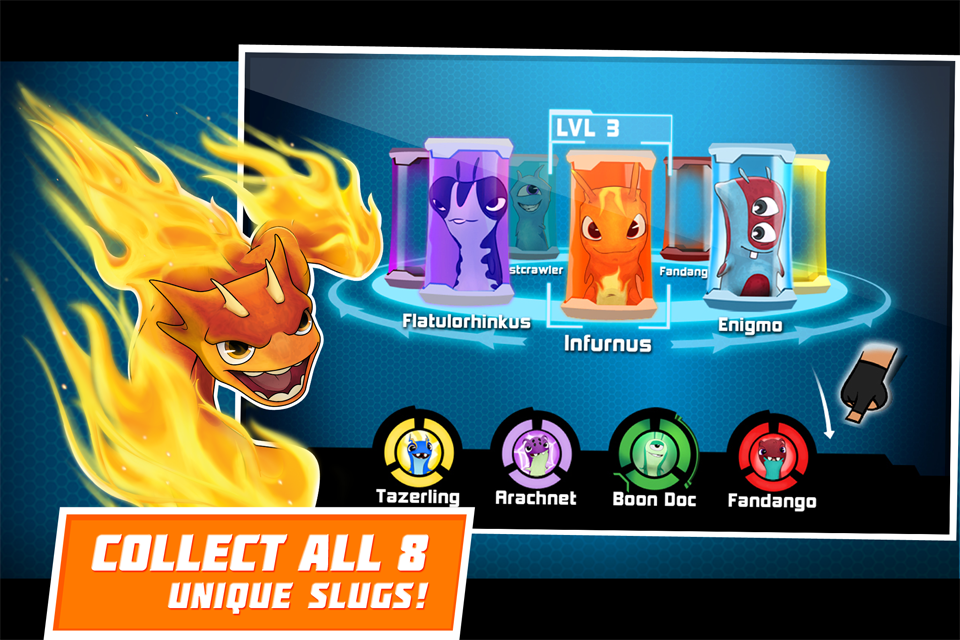 The first slugterra game is now available in the app store! Our game