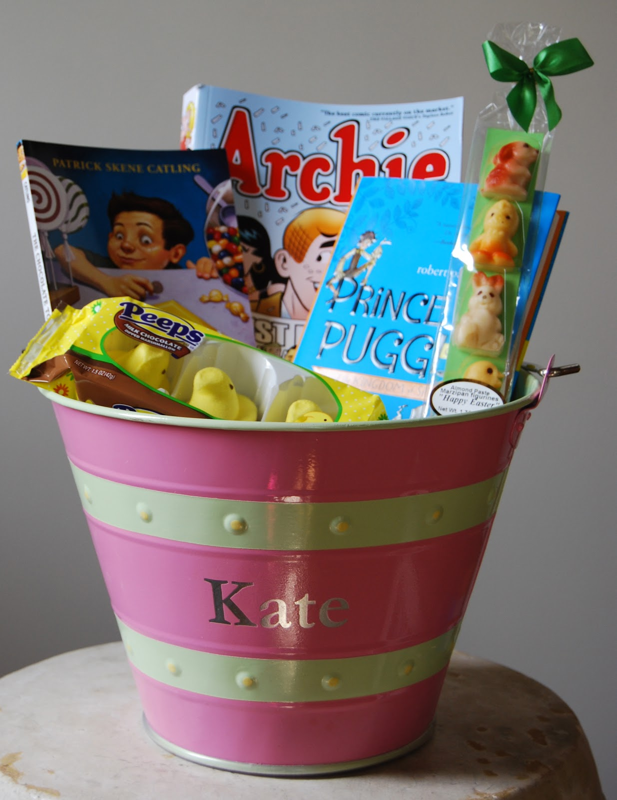 One great book easter book baskets basket for my nine year old daughter negle Images