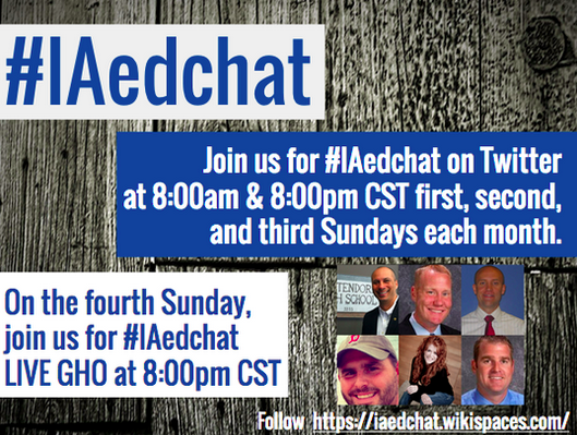 Join us for #IAedchat on Twitter