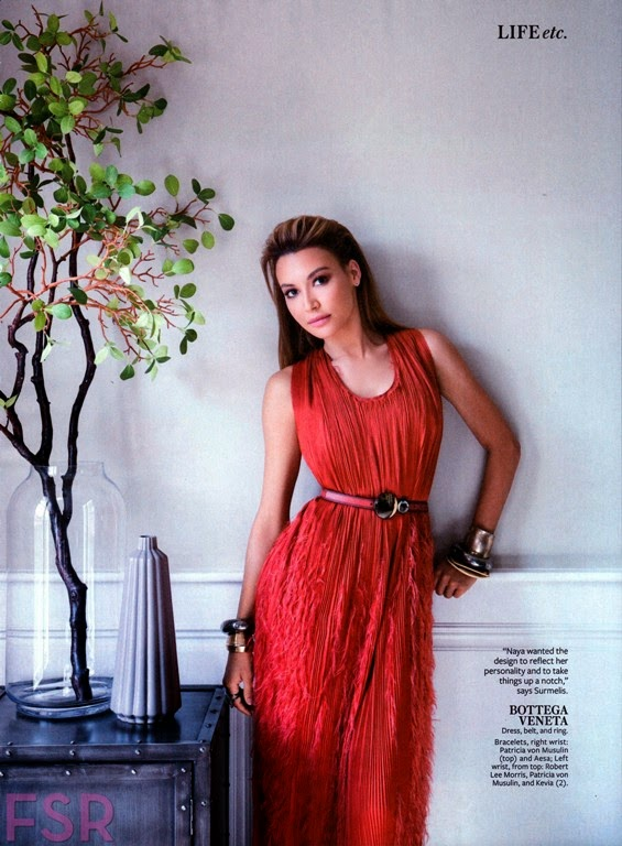 Naya Rivera For InStyle Magazine, US, June 2014