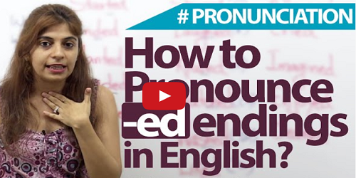 how to pronounce english words ending in 'ed'