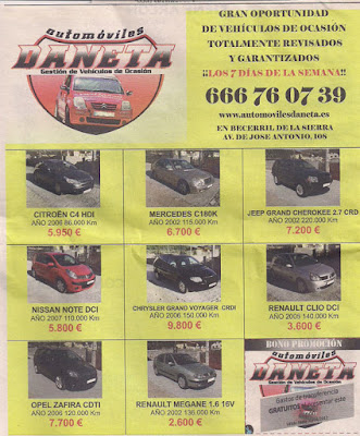 Automóviles de ocasión Daneta
