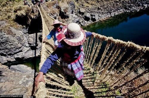 Unik Selama 5 Abad Penduduk Kampung Ini Menggunakan Jambatan Diperbuat Dari Rumput Kering