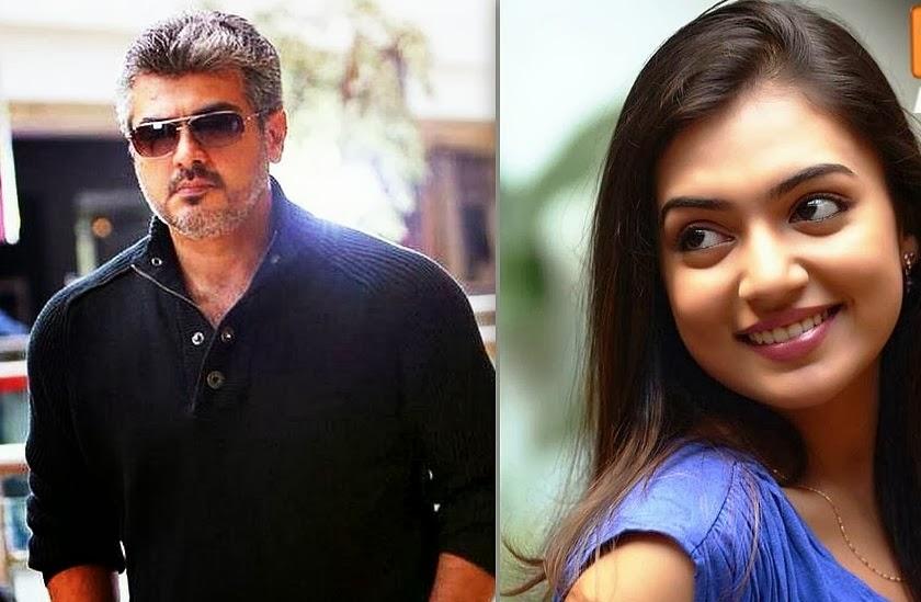 Nazriya's interest to star opposite Ajith