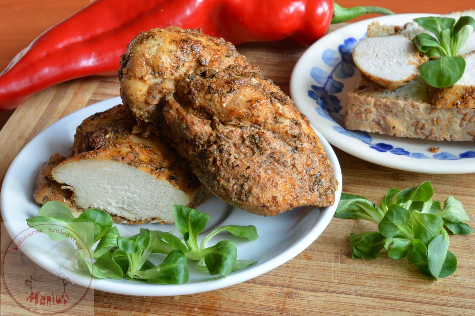 Pieczony filet z kurczaka na kanapki