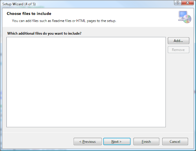 Visual Studio Setup Wizard - Step 4