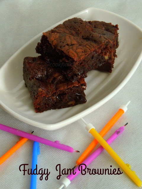 Fudgy Jam Brownies, Strawberry Jam Brownies