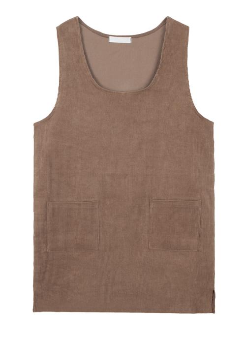 Corduroy Sleeveless Dress