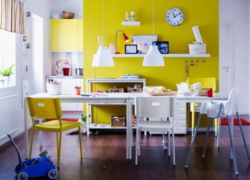 cucina gialla idee design moderno : ... per la casa e l arredamento: Imbiancare cucina: colori giallo e verde
