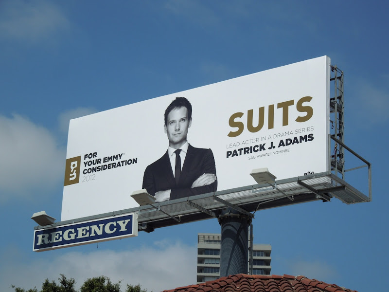 Patrick J Adams Suits Emmy billboard