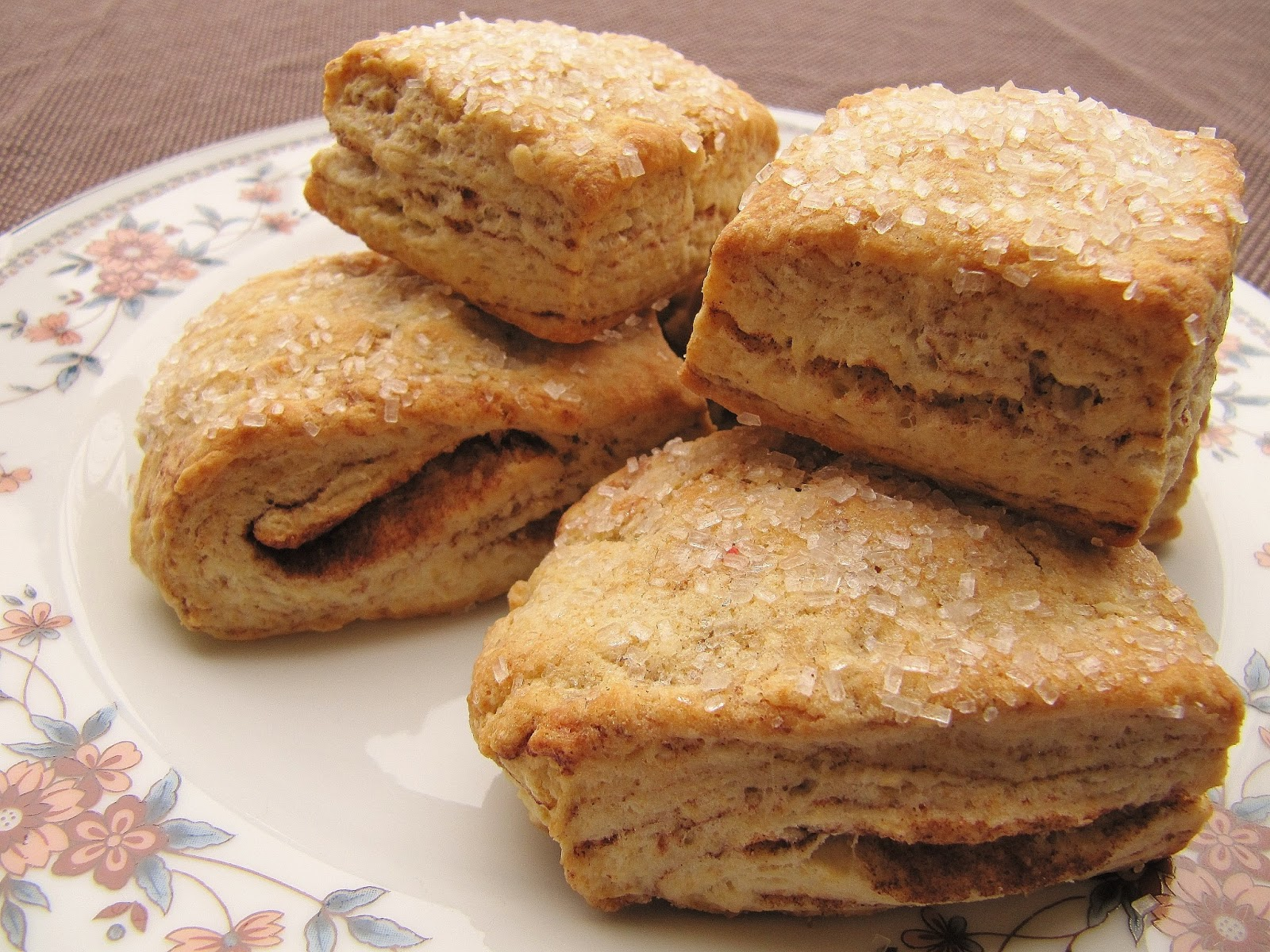 Dimples & Delights: Flaky Cinnamon Layered Biscuits