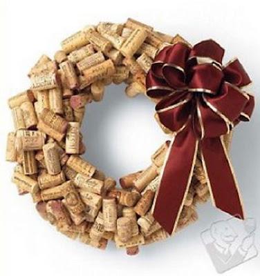Adornos Navideños hechos con corchos de vino