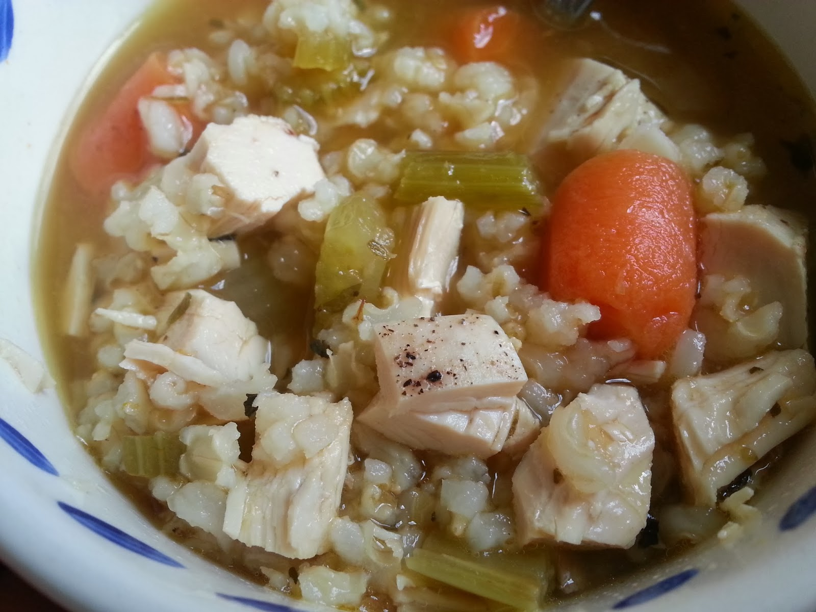 healthy chicken rice soup