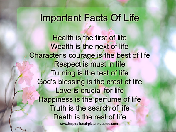 Important Facts Of Life Inspirational Picture Quotes Extraordinary Images Of Facts Of Life Quotes