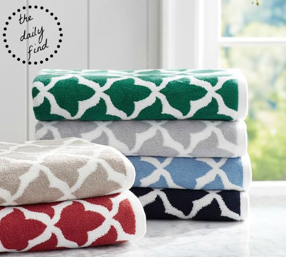 Pottery Barn Bath Towels