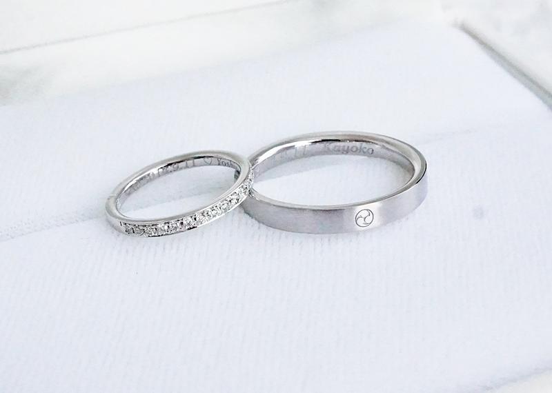 オーダーしたマリッジリング(結婚指輪)の刻印にこだわりました。
