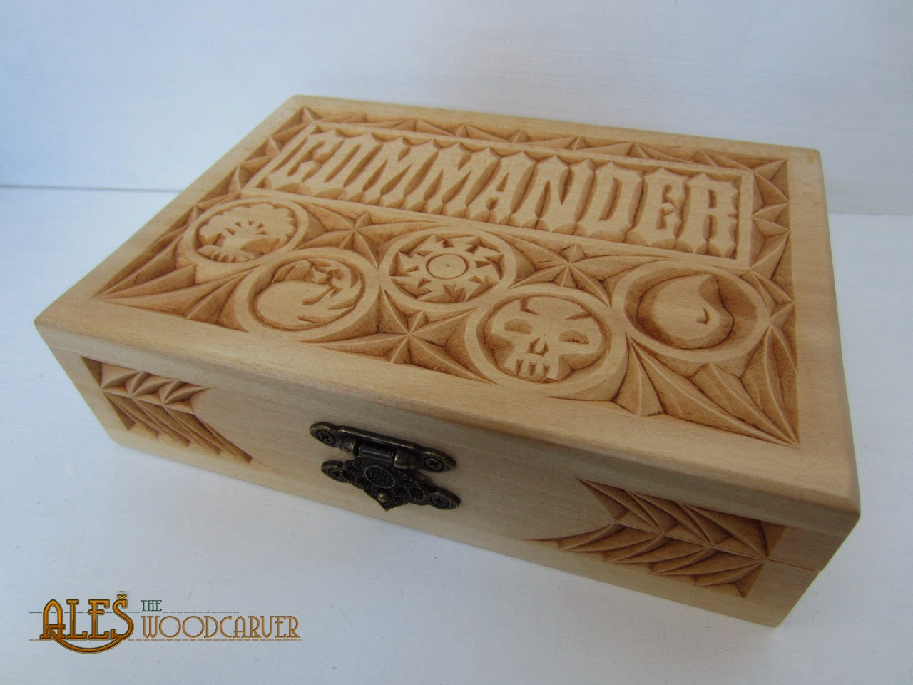 Ales the woodcarver mtg card boxes for commander decks