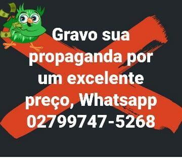 GRAVAÇÃO DE PROPAGANDA, CHAMADAS.