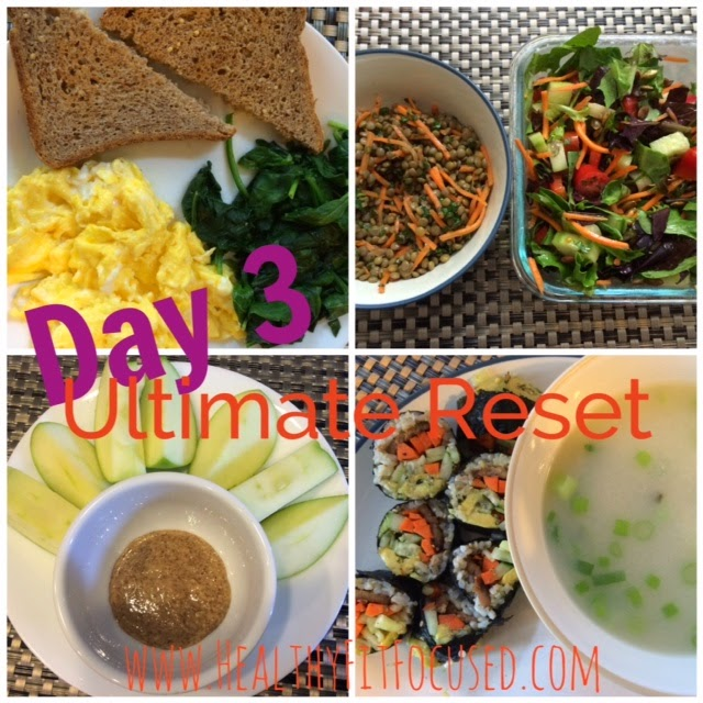 Day 3 Ultimate Reset Meals, www.HealthyFitFocused.com