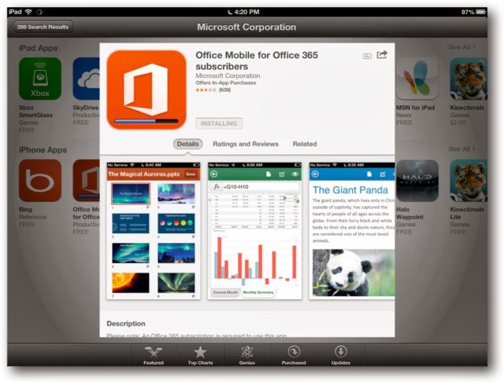 Microsoft Office artık ipadlerde de çalışacak