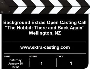 The Hobbit Wellington Casting Call
