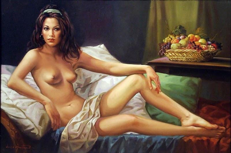 D.W.C. Nu.. Woman - Painter Lucio Amitrano